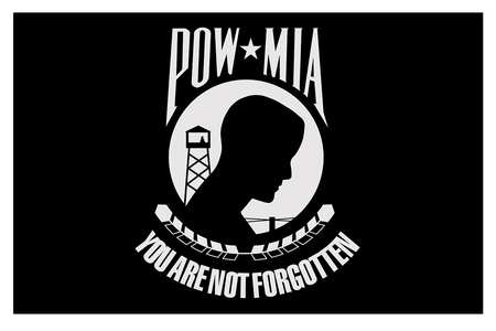 Pow Mia Flag, 5x8 Ft, Nylon,  You are not forgotten,  Black
