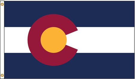 Colorado Flag, 5x8 Ft, Nylon