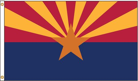 Arizona Flag, 5x8 Ft, Nylon