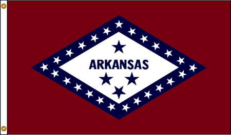 Arkansas Flag, 4x6 Ft, Nylon