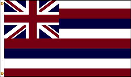 Hawaii Flag, 5x8 Ft, Nylon