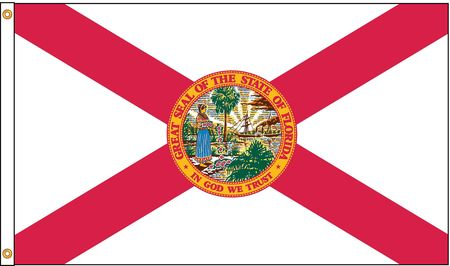 Florida Flag, 5x8 Ft, Nylon