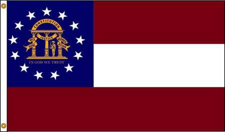 Georgia Flag, 4x6 Ft, Nylon
