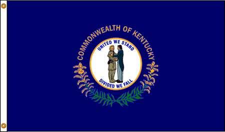 Kentucky Flag, 4x6 Ft, Nylon