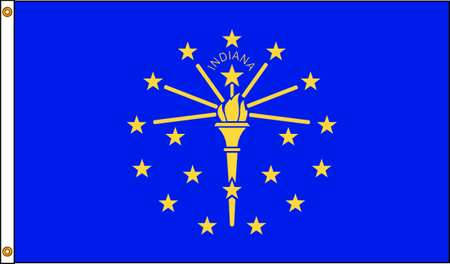 Indiana Flag, 5x8 Ft, Nylon