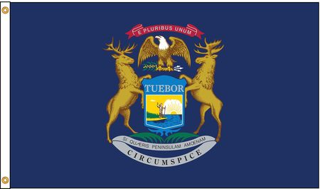 Michigan Flag, 4x6 Ft, Nylon