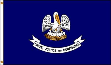 Louisiana Flag, 5x8 Ft, Nylon