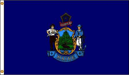 Maine Flag, 5x8 Ft, Nylon