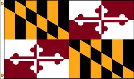 Maryland Flag, 4x6 Ft, Nylon
