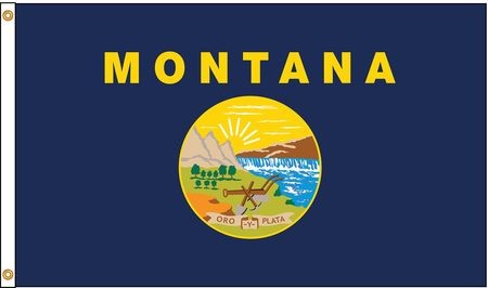 Montana Flag, 5x8 Ft, Nylon