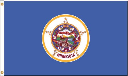Minnesota Flag, 4x6 Ft, Nylon