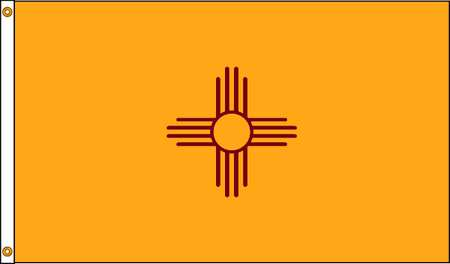 New Mexico Flag, 4x6 Ft, Nylon