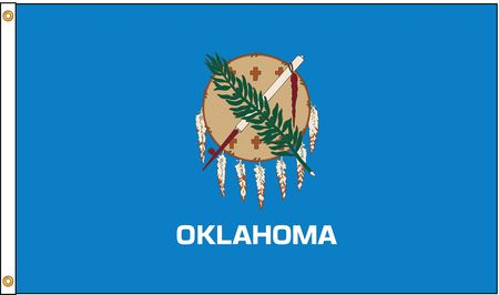 Oklahoma Flag, 4x6 Ft, Nylon