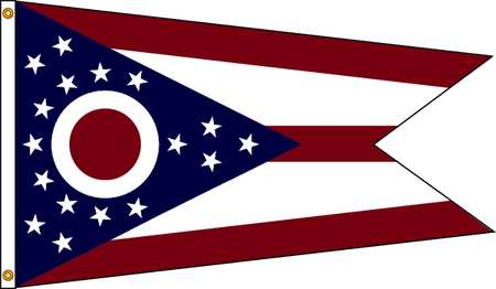 Ohio Flag, 4x6 Ft, Nylon