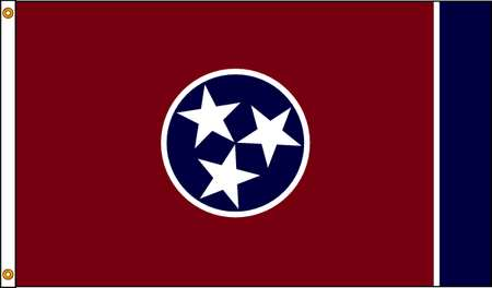 Tennessee Flag, 4x6 Ft, Nylon