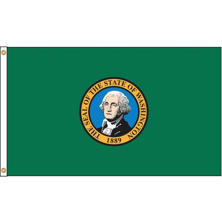 Washington Flag, 5x8 Ft, Nylon
