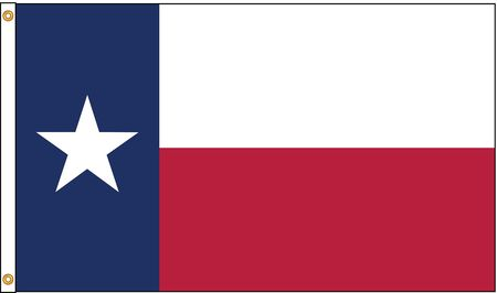 Texas Flag, 5x8 Ft, Nylon