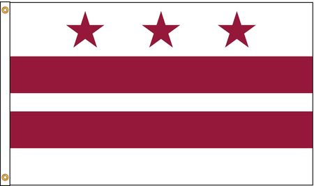District Of Columbia Flag, 4x6 Ft, Nylon