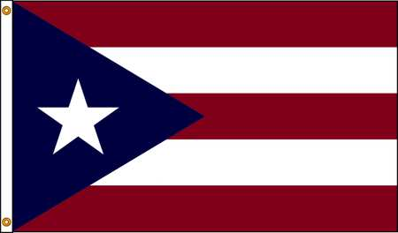 Puerto Rico Flag, 3x5 Ft, Nylon