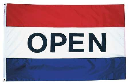 Open Flag, 3x5 Ft, Nylon