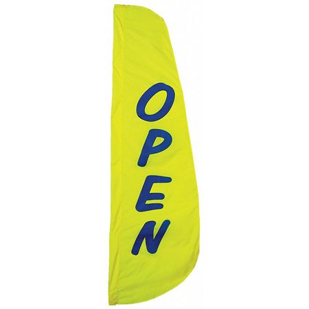 Open Feather Flag, 2x8 Ft, Nylon