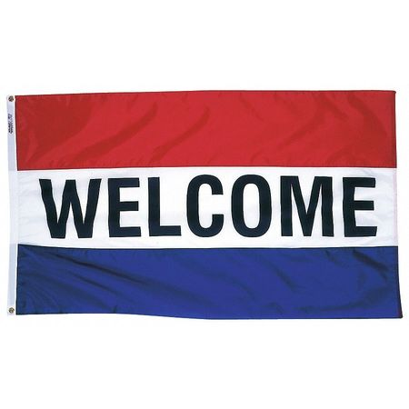 Welcome Flag, 3x5 Ft, Nylon