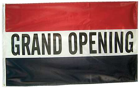 Grand Opening Flag, 3x5 Ft, Nylon