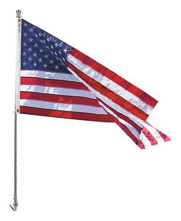 US Flag W/spinning Pole, Nylon