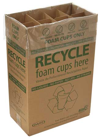 Recycling Container, Brown, 28-1/2 gal.
