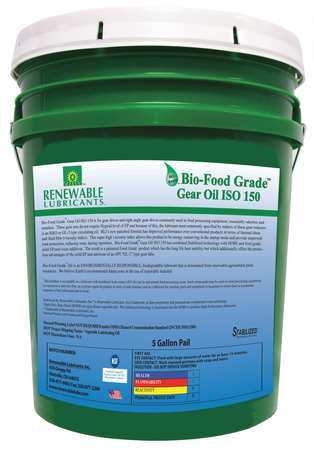 Gear Oil,  Biobased,  ISO 150,  5 gal.,  NSF H1