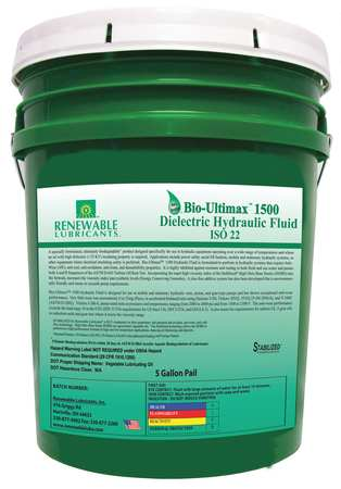 Dielectric Hydraulic Oil,  ISO 22,  5 gal.