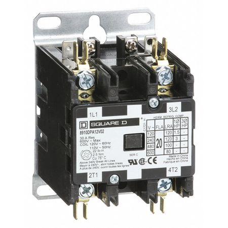 120VAC Non-Reversing Definite Purpose Contactor 2P 20A