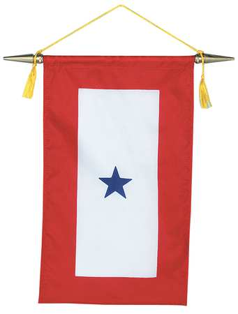 Service Star Banner, 15x8in, Nylon