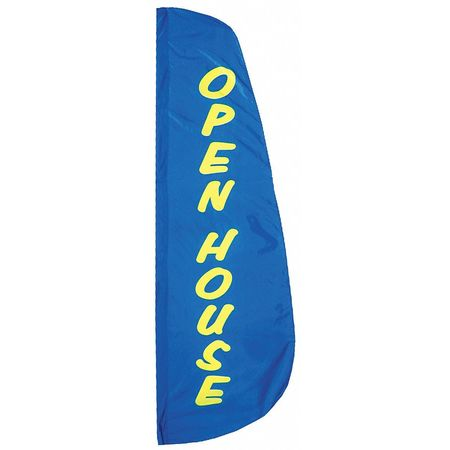 Open House Feather Flag, 2x8 Ft, Nylon