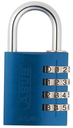 Combination Padlock, Side, Black/Silver