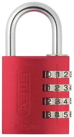 Combination Padlock, Side, Red