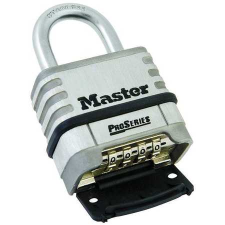 Combination Padlock, Bottom, Black/Silver