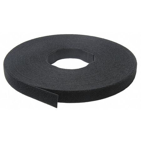 "1"" W x 75' L Self-Mating Black One-Wrap Self Gripping Roll,  1 pk."