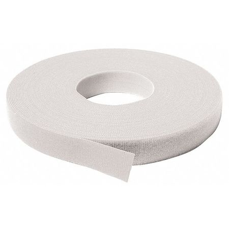 """3/4"""" W x 75' L Self-Mating White One-Wrap Self Gripping Roll"""