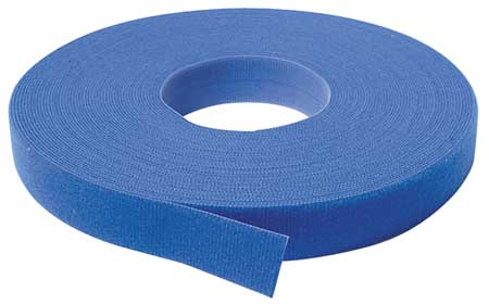 "3/4"" W x 37' 6"" L Self-Mating Blue Self Gripping Roll"