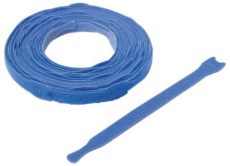 "3/4"" W x 8"" L Hook-and-Loop Blue One-Wrap Perforated Fastener Strap,  45 pk."