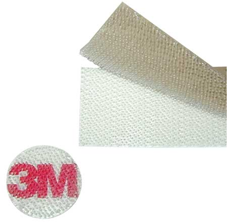 "7/8"" Dia. Self-Mating Clear Dual Lock Adhesive Dots,  900 pk."