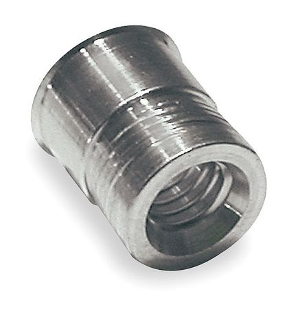 Nut Insert, Alum, 3/8-16, 0.740 In L, PK25