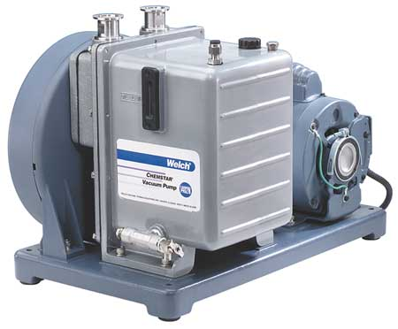 Vacuum Pump, 1 HP, 29.90 In. Hg, 10.6 cfm