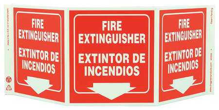 Fire Extinguisher Sign, 7-1/2 x 20In