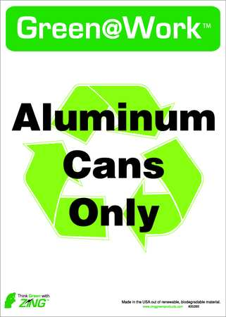 Recycle Label, 14x10In, ENG, SURF, PK5