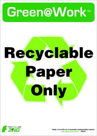 Recycle Label, 14x10In, PK5