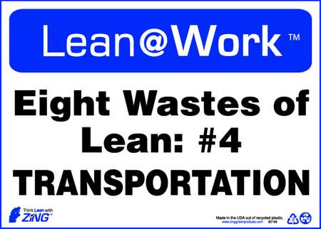 Lean Processes Sign, 10 x 14In, ENG, Text