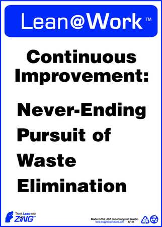 Lean Processes Sign, 14 x 10In, ENG, Text