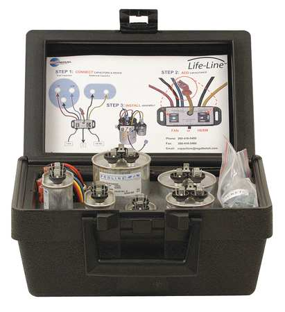 Capacitor Kit, Incl 6 Capacitors and Case